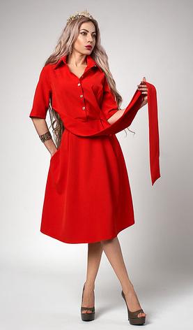 """Платье  """"Ребека"""" красного цвета, фото 2"""