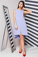 Donna-M Креповое платье с оригинальным низом и эффектными пуговицами 70882, фото 1
