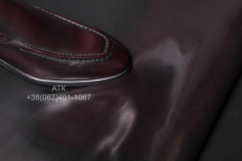 Кожа обувная Кабир бордовая
