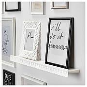 СКУРАР Полка для картин, белый, 70 см 60310617 ИКЕА, IKEA, SKURAR