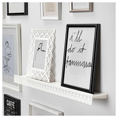 СКУРАР Полка для картин, белый, 70 см 60310617 ИКЕА, IKEA, SKURAR, фото 2