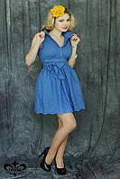 "Donna-M Платье ""Батиста"" (темно-голубой) 2000000011011, фото 1"