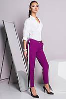 Donna-M Стильные брюки цвета фуксия с лампасом 30010, фото 1