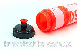 Бутылка для воды спортивная FI-5960-5 750мл I LOVE SPORT (PE прозрач, силикон, корал.-белый-корал.), фото 2