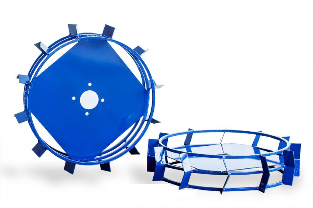 Грунтозацепы к мотоблоку (железные колёса) Ø 450 мм на профтрубе АМ