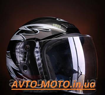 Шлем черный без бороды (открытый)