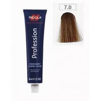 Крем-краска для волос INDOLA 7.0 средний блондин натуральный, 60 мл