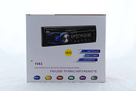 Автомагнитола MP3 1083B съемная панель + ISO кабель (20)  в уп. 20шт.