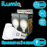 Светодиодная лампа Ilumia диммер 3-5-10Вт - 2шт, цоколь Е27, 3000К (теплый белый), 1000Лм (063)
