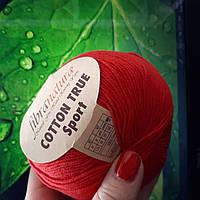 Пряжа Cotton True Sport хлопок красный