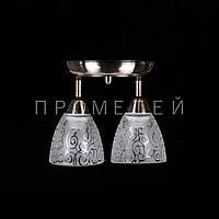 Люстра спот на 2 лампочки (античная бронза) P3-1164/2C/AB+WT