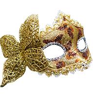 Маска Венеция бабочки золото