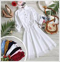 Легкое белое летнее платье