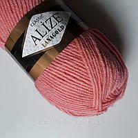 Пряжа нитки для вязания Lanagold полушерсть фламинго