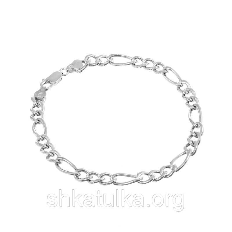 Серебряный браслет родированный - картье 809Р 10/23