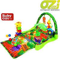 "Детский развивающий коврик ""Зоопарк"" Baby Gift"