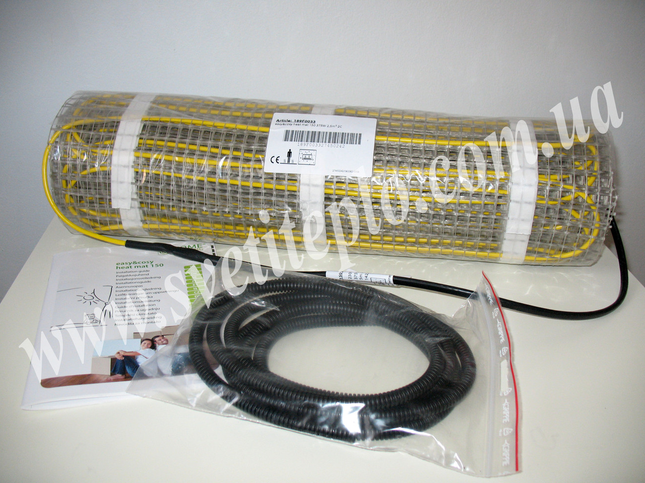 2,5 м2, 375 Вт при 230V, двухжильный нагревательный мат, Home Heating