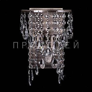 Хрустальное бра на 2 лампочки (античная бронза) P5-E1348/2W/AB