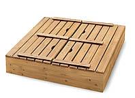 Деревянные песочницы с крышкой и лавочками 150 * 150 см. SB03