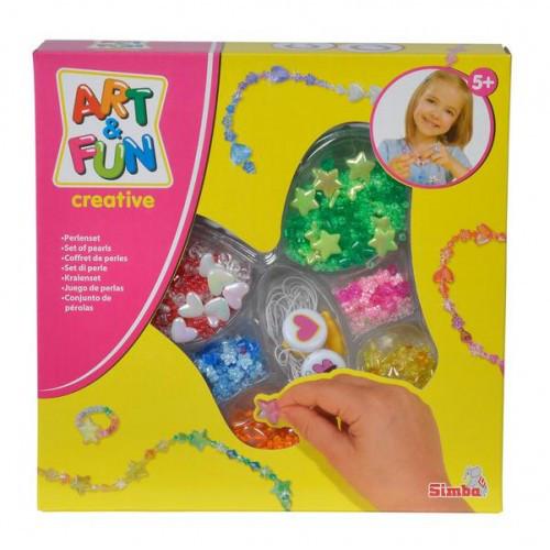 Набор-2 с перламутровыми бусинками, Art and Fun, Simba 637 4136-2