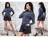 Стильный женский костюм с шортами размеры S-L, фото 1
