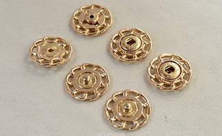 Кнопка пришивная металл темный никель арт.25203, цена за упаковку(50шт.)
