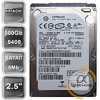 """Жесткий диск 2.5"""" 500Gb Hitachi HTS545050B9A300 (8Mb/5400/SATAII) БУ"""