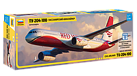 1:144 Сборная модель самолета Ту-204-100, Звезда 7023