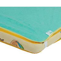 Наматрасник-пеленка непромокаемый 2 в 1 Classic, 60 × 80 см, зеленый, Эко Пупс