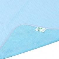 Пелёнка двусторонняя непромокаемая Jersey Classiс, 50 × 70 см, синяя, Эко Пупс