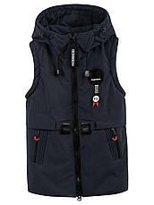 Детская демисезонная куртка жилетка на мальчика, р.140, фото 2