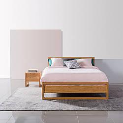 """Кровать двуспальная """"Элвин"""" из массива натурального дерева"""
