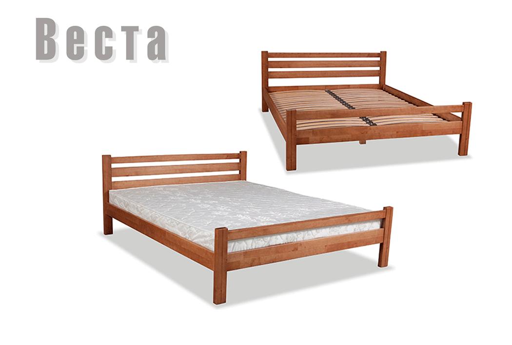 Ліжко односпальне з натурального дерева в спальню/дитячу Веста 90*200 Sovinion