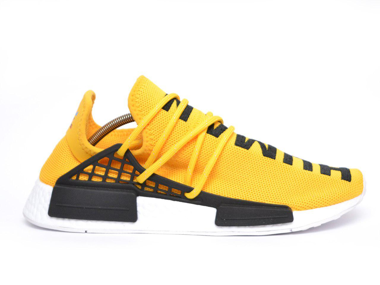 Мужские кроссовки Adidas Pharrell Williams NMD Human Race Yellow реплика