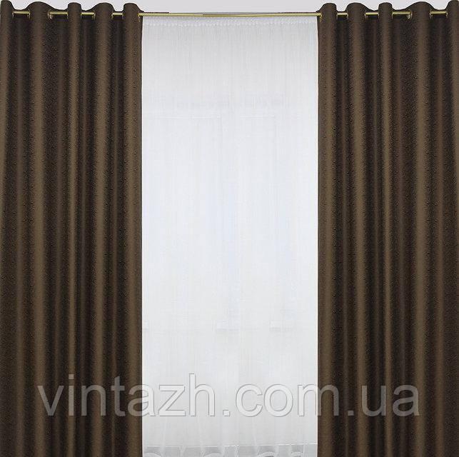 Красивый готовый комплект штор из плотной шторной ткани в Украине