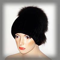 Меховая шапка из кролика Rex Rabbit(черная), фото 1