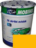 """Автокраска 1035 Эмаль акриловая Helios Mobihel """"Золотисто-желтая"""" 1л без отвердителя"""