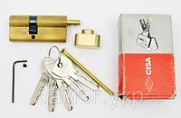 Cisa Astral 80мм 35х45 ключ/тумблер латунь (Италия), фото 1