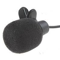 Микрофон с защелкой на одежду, длиною 2 метра, и штекером 3.5mm