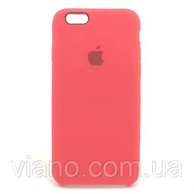 Силиконовый чехол iPhone 6/6S, Apple silicone case (Красный)