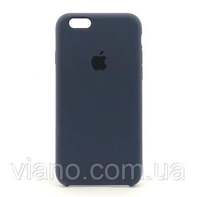 Силиконовый чехол iPhone 6/6S, Apple silicone case (Тёмно-синий)