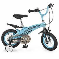 Велосипед детский PROFI Projective 12 дюймов LMG12121 цвет голубой