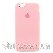Силиконовый чехол iPhone 6/6S, Apple silicone case (Розовый)