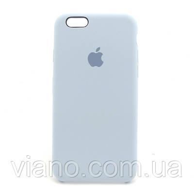 Силиконовый чехол iPhone 6/6S, Apple silicone case (Светло-голубой)