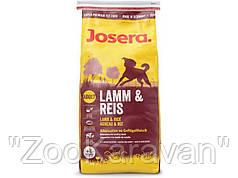 Josera Lamb & Rice. Полноценный корм для собак склонных к аллергии. 15 кг