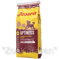 Josera Optiness. Низкопротеиновый корм для взрослых собак средних и крупных пород. 15 кг