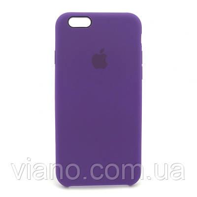 Силиконовый чехол iPhone 6/6S, Apple silicone case (Ультрафиолет)