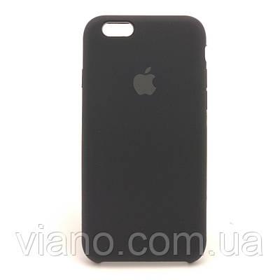 Силиконовый чехол iPhone 6 Plus/6S Plus, Apple silicone case (Чёрный)