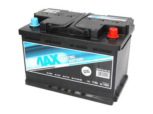 Аккумулятор 4Max Bateries 77Ah/760A R+(0) Ecoline 278x175x190, фото 2