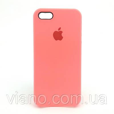 Силиконовый чехол iPhone 6/6S, Apple silicone case (Каралловый)